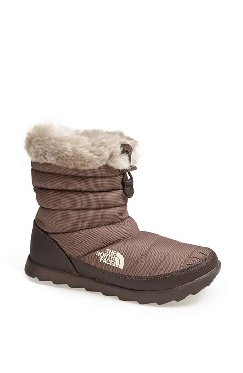 the thermoball boots the thermoball micro baffle boot in brown lyst