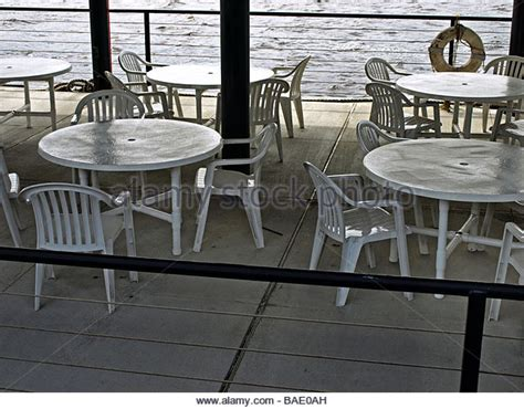 boat dock table and chairs picnic table by river stock photos picnic table by river