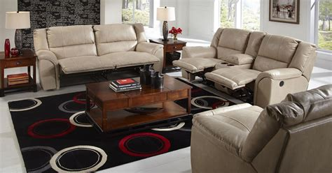 power reclining living room set carmine pebble power reclining living room set from
