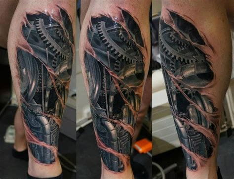 biomechanical gear tattoo sleeve biomechanics tattoo tats pinterest biomechanical