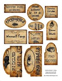 free halloween apothecary jar labels