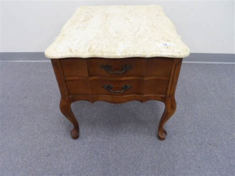 Top End Upholstery by Marble Top End Table Hammary Furniture Co