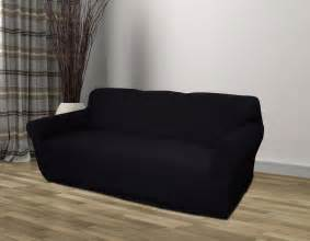 black jersey sofa stretch slipcover cover chair