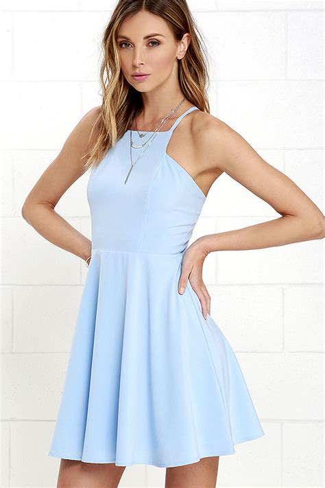 Light Blue Skater Dress by Light Blue Dress Skater Dress Fit And Flare Dress
