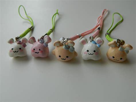rabbit polymer clay charms by sagwalii on deviantart