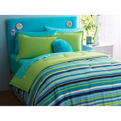 teal green comforter sets your zone reversible comforter and sham set walmart com