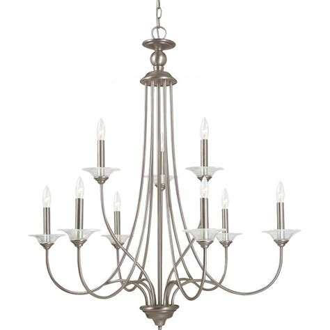 Nickel Chandelier Sea Gull Lighting Lemont 9 Light Antique Brushed Nickel