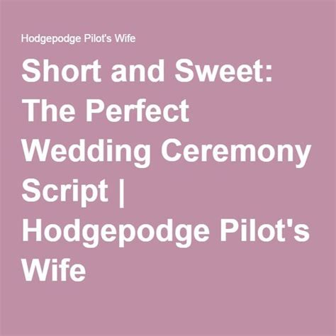 Wedding Ceremony Script by Wedding Ceremony Script Scripts And Wedding On