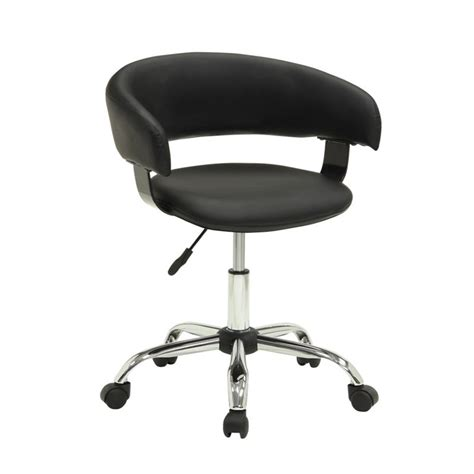 powell furniture gas lift desk office chair in black