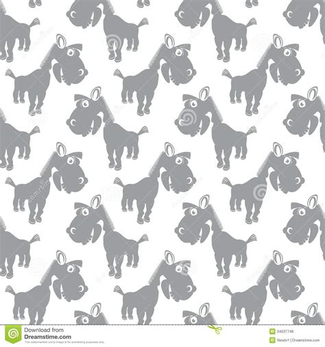 cute baby pattern stock vector image of horse collection seamless vector pattern with cute cartoon horses stock