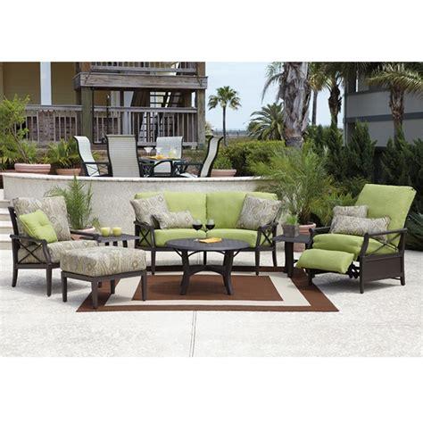 woodard patio furniture woodard andover cushion 7 patio set wd andover set2