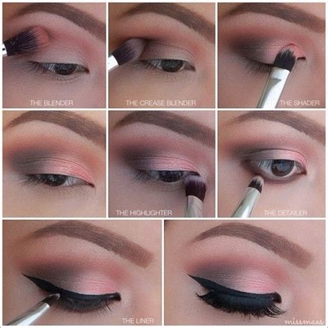 natural eye makeup tutorial step by step step by step winged eye makeup pictures photos and