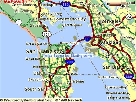 san francisco freeway map map to yerba buena skating center san francisco ca