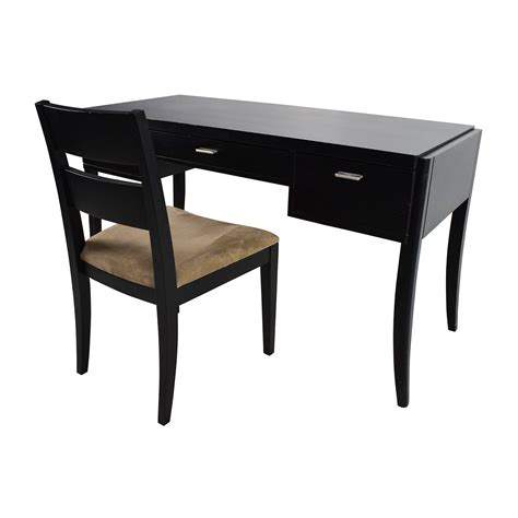 crate and barrel desk chair 78 off crate barrel crate barrel black wood desk