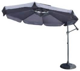 Cantilever Patio Umbrella With Base Tahiti Outdoor Gray Cantilever Patio Canopy Umbrella And Base Contemporary Outdoor Umbrellas