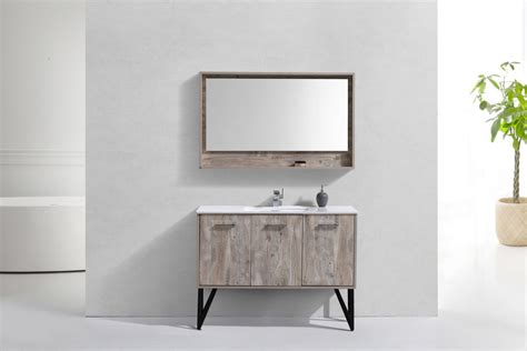 modern bathroom vanity mirror bosco 48 quot modern bathroom vanity w quartz countertop and
