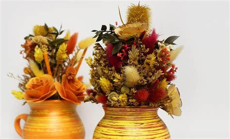 fiori secchi come creare una perfetta composizione di fiori secchi