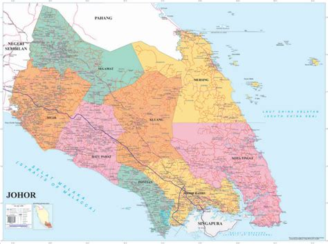 maps globe specialist distributor political map of johor photo detailed about political map
