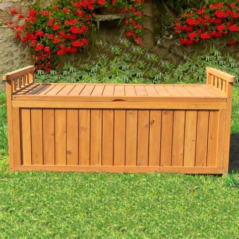 Wooden Garden Storage Garden Storage Box Wooden Outdoor Bench Seat Wood Store