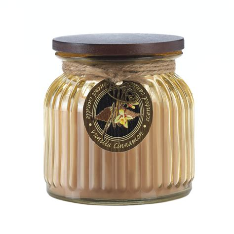 Candle Jars Wholesale Wholesale Vanilla Cinnamon Ribbed Jar Candle Buy