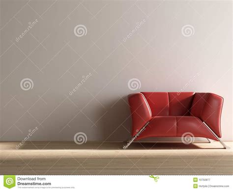 face couch red couch to face a blank wall royalty free stock