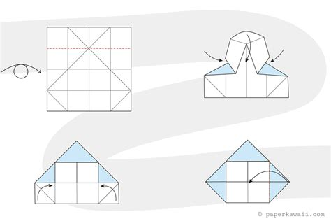 Simple Origami House - how to make a simple origami house