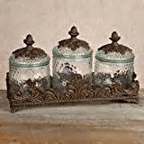 Bronze Kitchen Canisters by Glass Canisters Burnished Bronze Explore