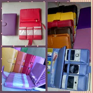 Organaizer Dompet Hp 2 Cat Selempang Kulit Biru dompet wanita walet handpone organizer san collection
