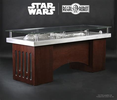 star wars desk han solo carbonite desk regal robot