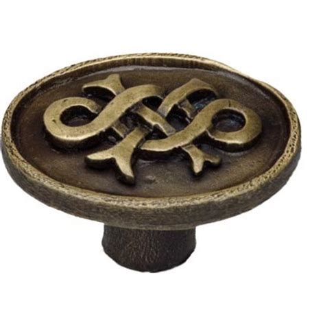 Celtic Cabinet Hardware by Celtic Collection Oval Cabinet Knob With Celtic Design 1 1