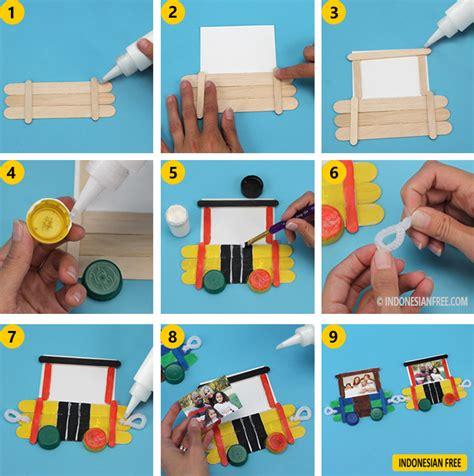 tutorial kerajinan tangan dari stick es krim cara membuat bingkai foto dari stik es krim tutorial