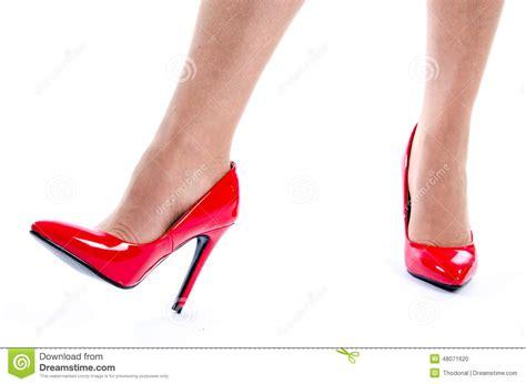 wearing high heel shoes stock photo image