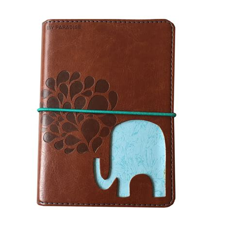 Elephant Journal Cover with notebook - mrsbrimbles