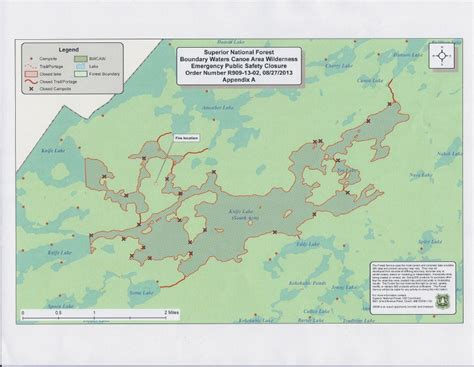 boundary waters map wildfire in the bwca boundary waters
