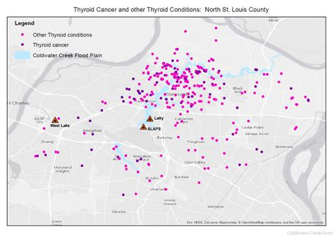 coldwater creek map thyroid cancer and disease coldwater creek facts