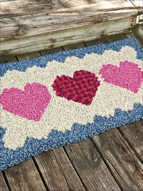 heart pattern rugs crochet home kitchen rug floor covering wiggly