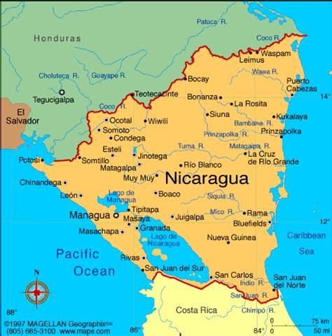nicaragua on a map atlas nicaragua