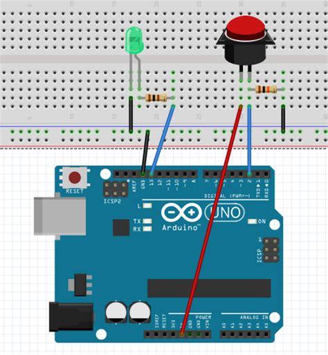 arduino code push button button arduino basics arduino project hub