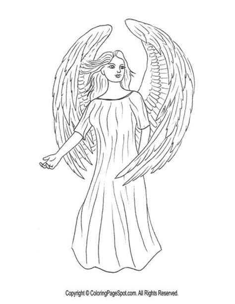 realistic angel coloring page drawings pinterest
