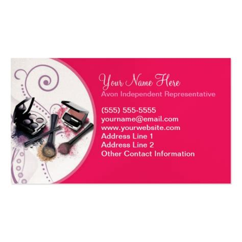 avon free business card template avon business card template zazzle