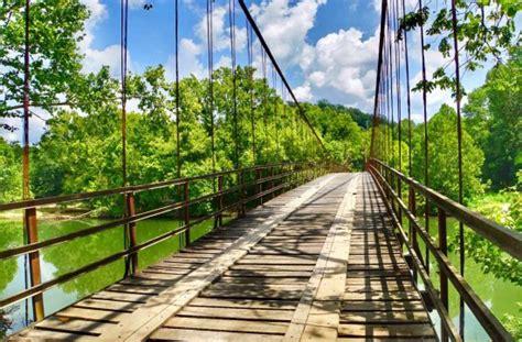 swinging bridge osage beach 2nd bridge over grand auglaize creek picture of swinging