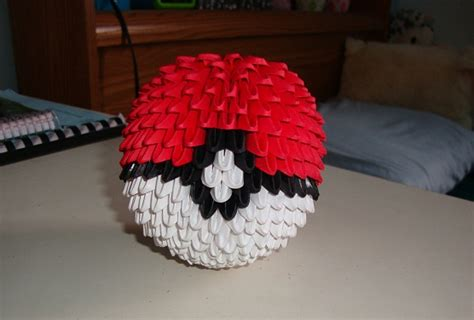 How To Make Origami Pokeball - pin 3d origami pokeball on