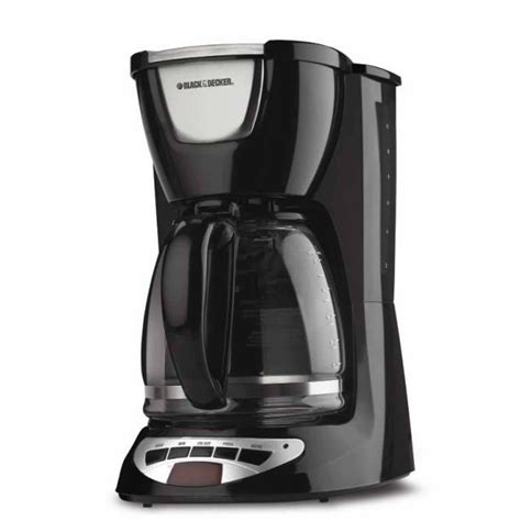 Coffee Maker Black And Decker shop black decker 12 cup black programmable coffee maker at lowes