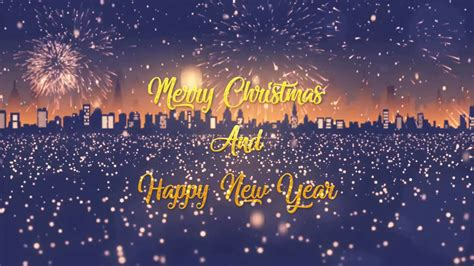 merry christmas  happy  year wishes short video youtube