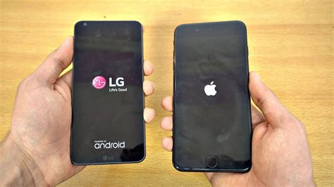 LG G6 vs iPhone 7 Plus   Speed Test! (4K)   Tech and Geek