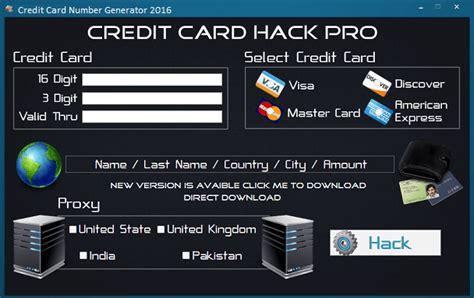 Sle Credit Card Number Credit Card Number Generator Validator 2016 Www Hackswork Hackswork
