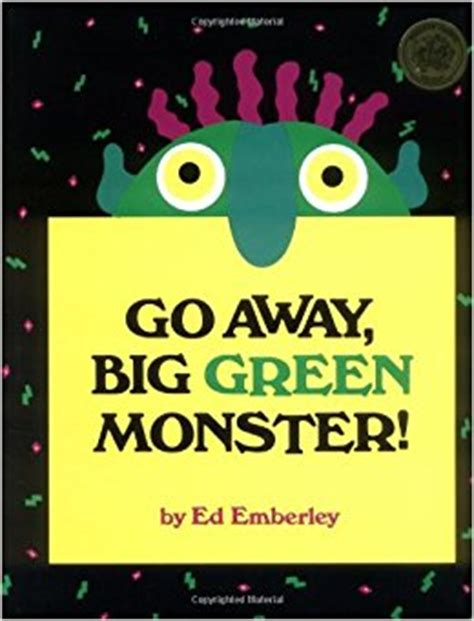 Go Away Big Green Monster Ed Emberley 9780316236539 Go Away Big Green Coloring Page