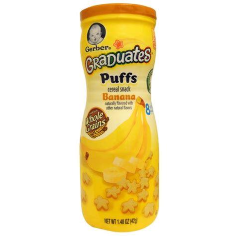Gerber Puffs Cereal Snacks 42 Gr gerber graduates puffs cereal snack banana crawler 1