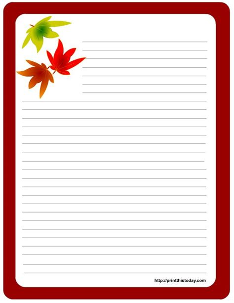 fall leaves stationery printable 1000 images about thanksgiving stationery on pinterest