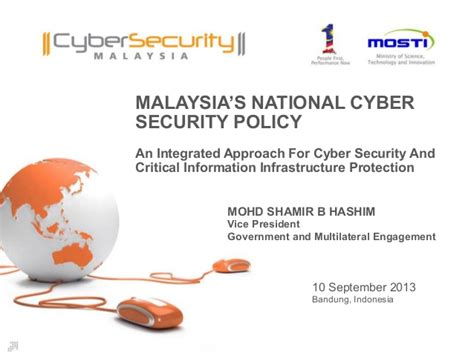 National Mba In Cyber Security by Malaysia S National Cyber Security Policy